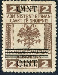 Buy Online - ALBANIA REVENUES, 1919 NEW CURRENCY OVERPRINT (W.16)