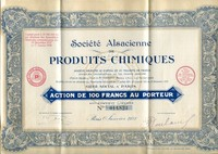 Buy Online - ALSACE SHARE CERTIFICATE (L..163)