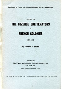 Buy Online - LOZENGE OBLITERATIONS OF FRENCH COLONIES (B.144)
