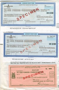 Buy Online - TRAVELLERS CHEQUES (L.100)