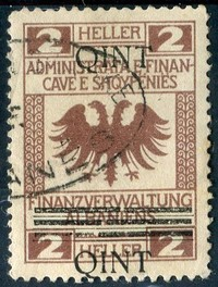 Buy Online - ALBANIA REVENUES, 1919 NEW CURRENCY OVERPRINT (W.15)