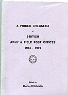 Buy Online - BRITISH ARMY & FIELD POST OFFICE 1914-1918