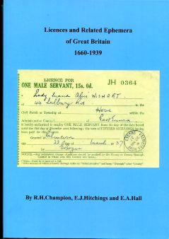 LICENCES...OF GREAT BRITAIN 1660-1939 (B.2)