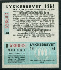 Buy Online - NORWAY - LOTTERY STAMP (W.474)